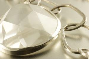 Silbercollier mit Bergkristall